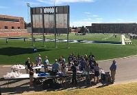 PLC works in cooperation with the SWOSU Alumni Association to help feed the participants in SWOSU's Annual Massed Bands event during the pre-game festivities at the homecoming football game.