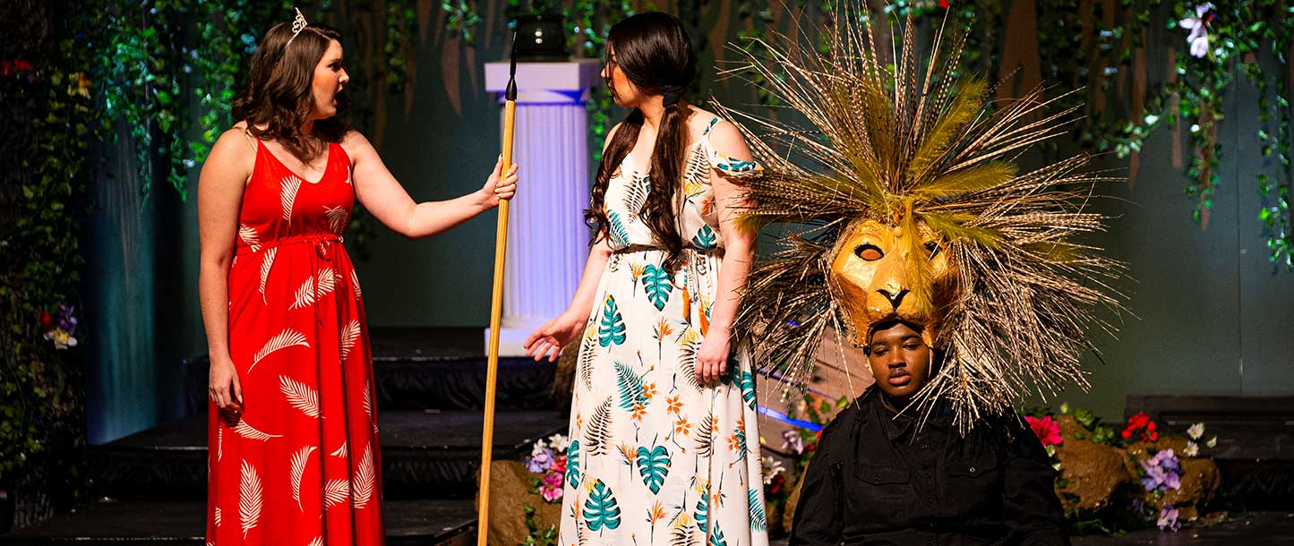 students performing opera