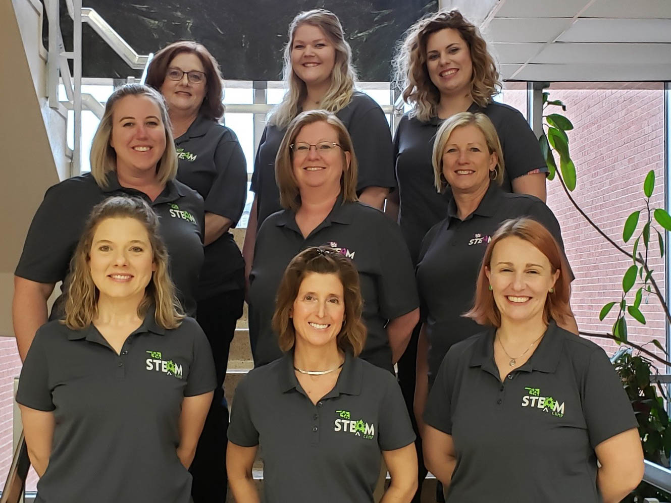 The 2020 SAGE STEAM Team – Left to right, bottom row: Mrs. Adina Foust (SWOSU College of Pharmacy), Dr. Lisa Appeddu (SWOSU College of Pharmacy), Dr. Denise Landrum-Geyer (SWOSU Language & Literature Department); middle row: Dr. Gina McGrane (SWOSU Department of Biological Sciences), Dr. Sally Drinnon (SWOSU College of Pharmacy), Dr. Sherri Brogdon (SWOSU Department of Education); top row: Mrs. Kathy O'Neal (SWOSU Department of Mathematics), Ms. Brianna Furman (SWOSU Chemistry major), Dr. Taylor Orgeron (SWOSU Language & Literature Department).  Not shown: Dr. Lori Gwyn (Director, SWOSU Office of Sponsored Programs and Student Success Center), Mrs. Kristin Flaming (NSF Grant Research Associate), Mrs. Elizabeth Amen (Burcham Elementary School), Ms. Jennifer Abshire (SWOSU Microbiology major), and Ms. Jillian Drinnon (SWOSU English Education major).