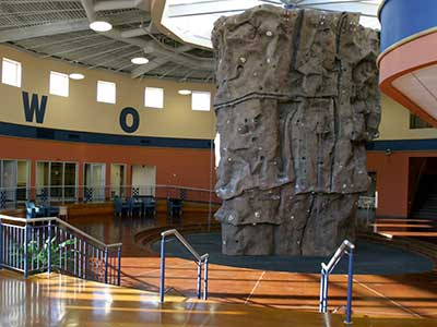 Rock Wall at the Wellness Center
