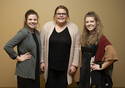 (from left)—Alyssa Boyd, Altus, teaching at Navajo Elementary; Kayli Boothe, Tipton, teaching at Blair Elementary and Junior High/High School; and Taylor Carr (Tison), Altus, teaching at Merritt Middle School and High School.