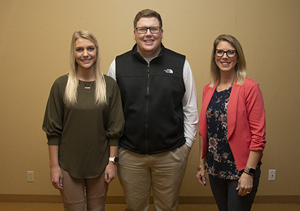 (from left)—Charis Kimble, Weatherford, teaching at Mustang Valley Elementary; Benjamin Ervin, Weatherford, teaching at Weatherford Middle School and High School; and Shyla Wilhite, Weatherford, teaching at Weatherford Middle School and East Elementary.