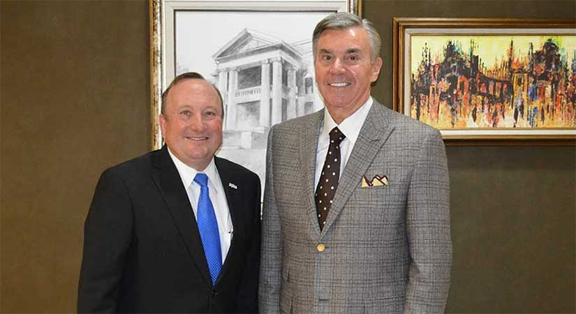 "Robert ""Bob"" Mills and SWOSU President Randy Beutler"