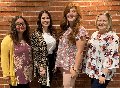 (From left): Ashley Rhea, Weatherford, teaching in Moore; Chelsie Pankratz, Weatherford, teaching in Weatherford; Rilee Roberson, Weatherford, teaching in Clinton; Marissa Flood, Weatherford, teaching in Hinton.